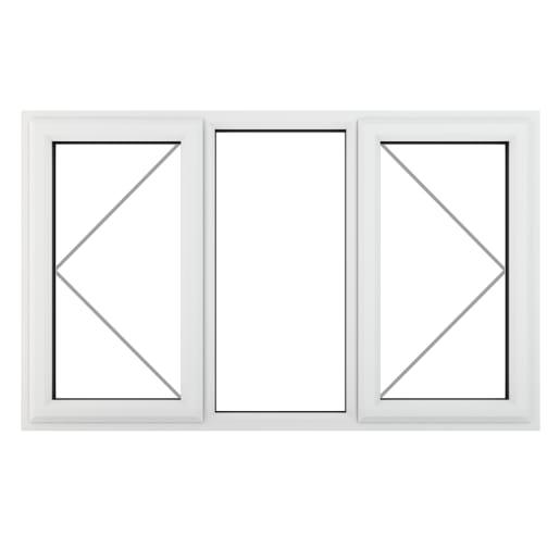 PVC-U L&RH Side Hung Fixed Centre Window 1770 x 965mm White