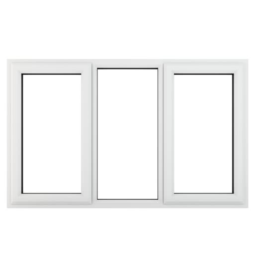 PVC-U L&RH Side Hung Fixed Centre Window 1770 x 1040mm White