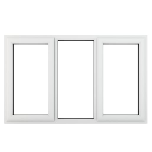 PVC-U L&RH Side Hung Fixed Centre Window 1770 x 1190mm White