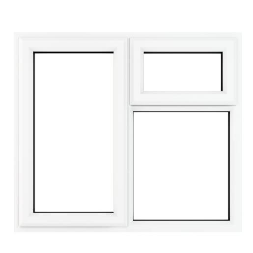 PVC-U LH Side Hung Top Opener Window 1190 x 1115 mm Grey/White