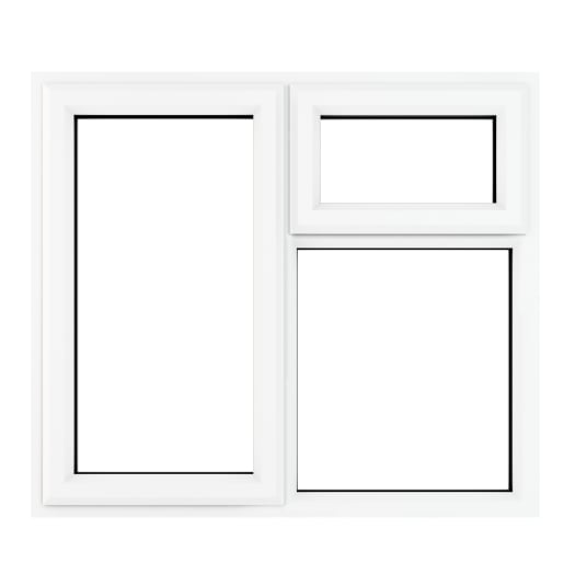 PVC-U LH Side Hung Top Opener Window 1190 x 1190 mm Grey/White