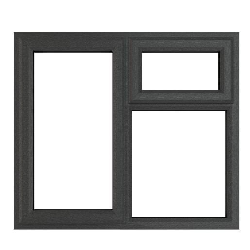 PVC-U LH Side Hung Top Opener 1190x1190mm Grey/White