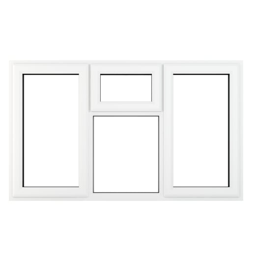 PVC-U L&RH Side Hung Top Opener Window 1770 x 1115 mm Grey/White
