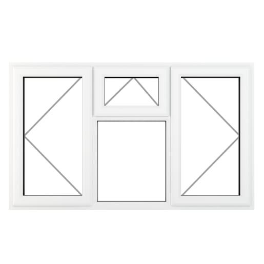 PVC-U L&RH Side Hung Top Opener Window 1770 x 1190 mm Grey/White