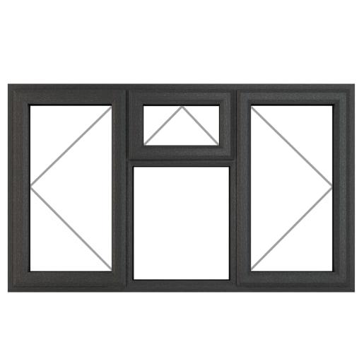 PVC-U L&RH Side Hung Top Opener 1770 x 1115 mm Grey/White