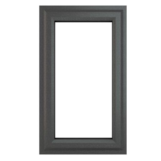 PVC-U LH Side Hung Window 610 x 1040 mm Grey/White
