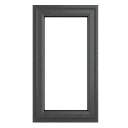 PVC-U RH Side Hung Window 610 x 1040 mm Grey/White