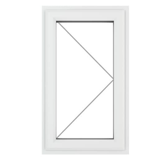 PVC-U RH Side Hung Window 610 x 1115 mm Grey/White