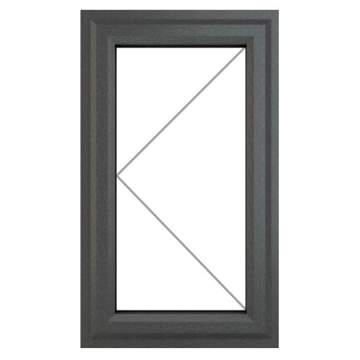PVC-U LH Side Hung Window 610 x 1115 mm Grey/White
