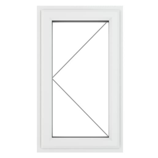 PVC-U LH Side Hung Window 610 x 820 mm Grey/White