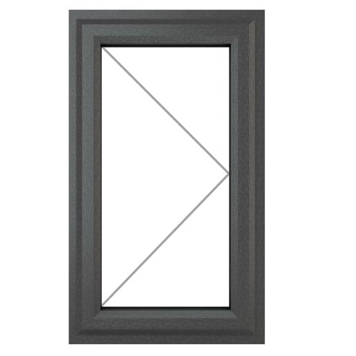 PVC-U RH Side Hung Window 610 x 820 mm Grey/White