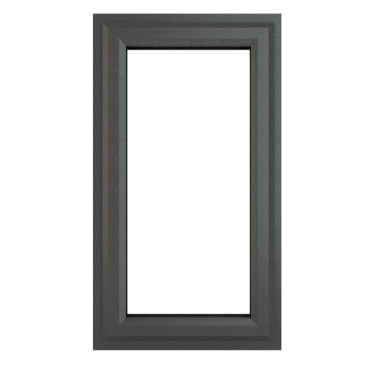 PVC-U RH Side Hung Window 610 x 965 mm Grey/White