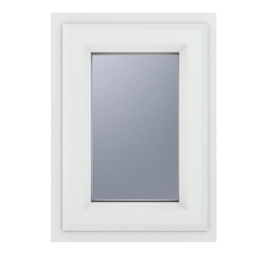 PVC-U Obscure Top Opener Window 440 x 610 mm Grey/White