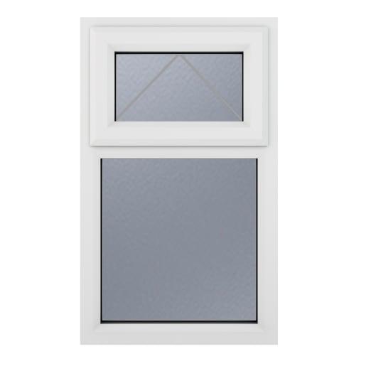 PVC-U Obsure Top Hung Opener 610 x 1040 mm Grey/White