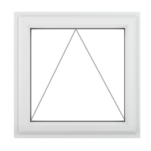PVC-U Top Opener Window 610 x 610 mm Grey/White