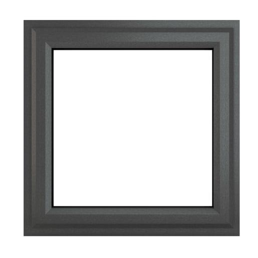 PVC-U Top Opener Window 820 x 820 mm Grey/White