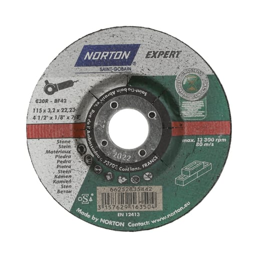 Norton Expert DPC Stone Cutting Disc 115 x 2.5 x 22.23mm