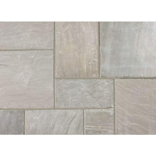 Marshalls Indian Sandstone Paving Pack 18.28m² Grey