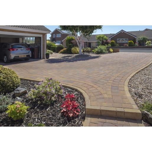 Marshalls Drivesett® Tegula Block Paving 160 x 120 x 50mm Autumn Brown