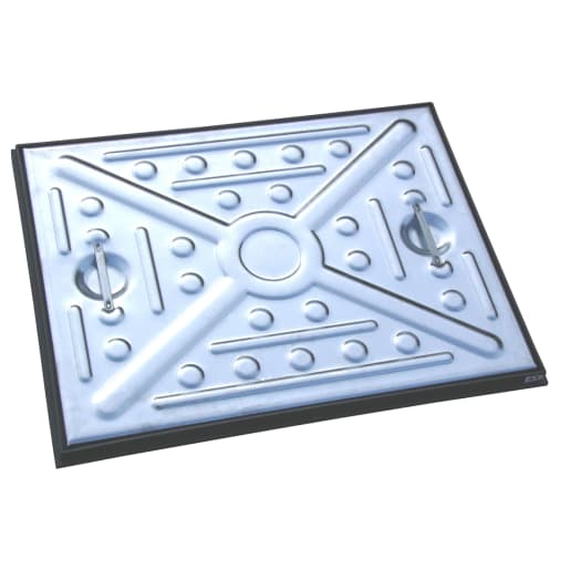 EJ Single Seal Manhole Cover and Frame 600 x 450mm Galvanised