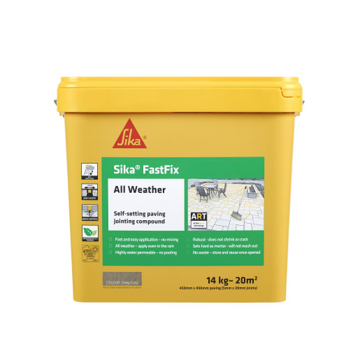 Sika FastFix All Weather Jointing Compound 14kg Deep Grey
