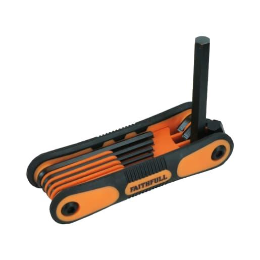 Faithfull Folding Hex Key 8 Metric Set 1.5-8mm