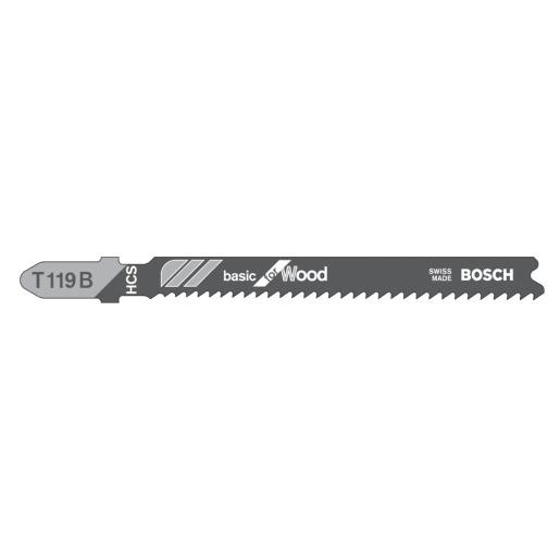 Bosch Jigsaw Blade Clean Cut Progressor for Wood 100mm Silver