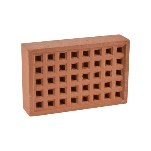 Hepworth Terracotta Airbrick Square Hole Red 215mm x 140mm
