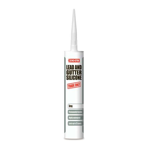 Evo-Stik Lead and Gutter Silicone Sealant 280ml Grey