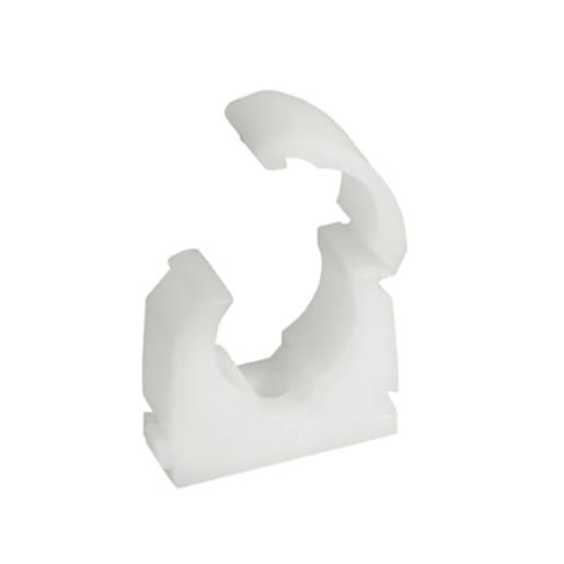 Talon Single Hinged Pipe Clip 15mm White