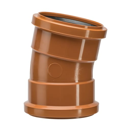 Polypipe Drain 11.25° Double Socket Bend 110mm Brown
