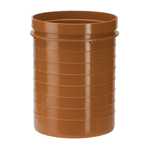 Polypipe Drain Bottle Gully Raising Piece 110mm Brown