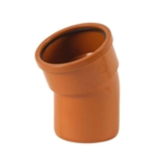 Polypipe Drain 15° Single Socket Bend 110mm