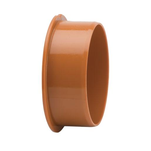 Polypipe Drain Socket Plug 110mm Brown