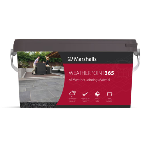 Marshalls Weatherpoint 365 Jointing Compound Tub Stone 15kg Grey