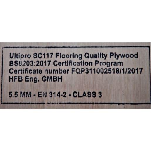 Ultipro SC117 Flooring Grade Plywood 2440 x 1220 x 5.5mm