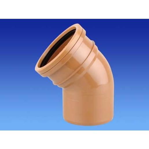 OsmaDrain 45° Single Socket Bend 75 x 160mm Brown