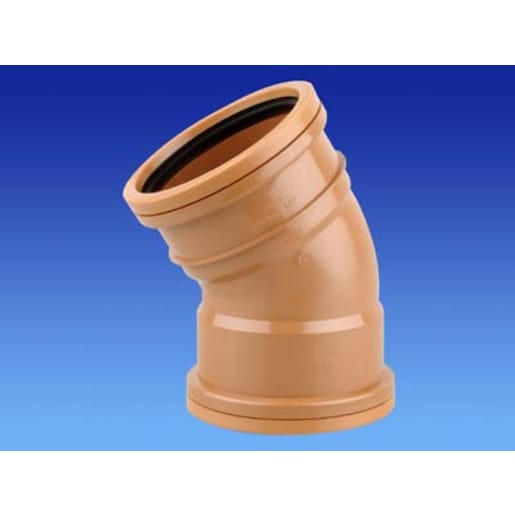 Osma 30° Double Socket Bend 75 x 160mm Brown