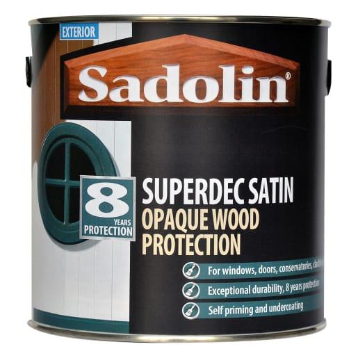 Sadolin Superdec Satin Opaque Wood Protection 2.5L Black