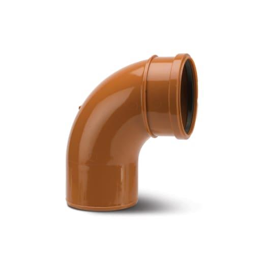 Polypipe Drain 87.5° Single Socket Bend 160mm Terracotta