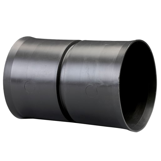 Naylor Land Drain Coil Connector 100mm Black