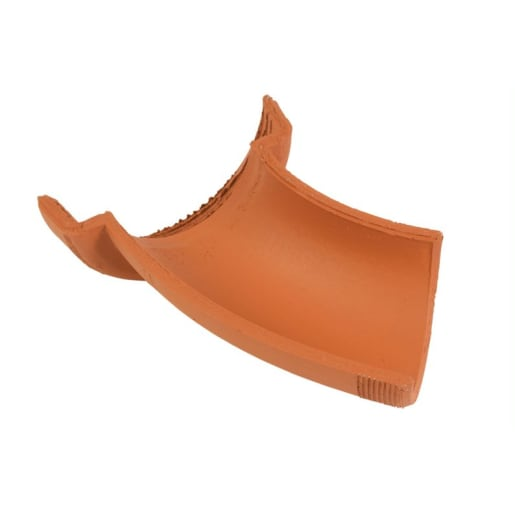 Hepworth 45° Right Hand Clay Channel Bend 225mm Brown
